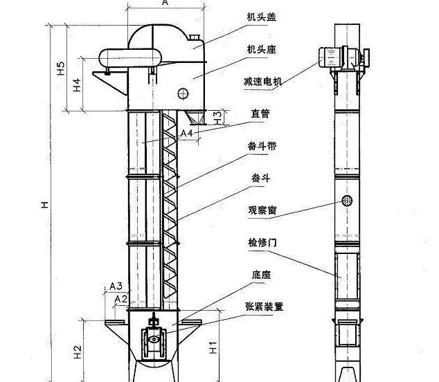 粉状物料斗式提升机技术要求及生产注意事项